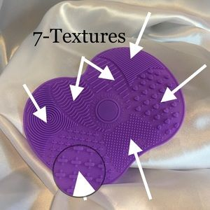 Sealed Brush Cleansing Mat Purple Suction Cups